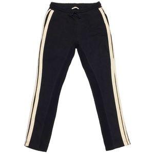 ZARA black jogger pants w/tan stripes sz S